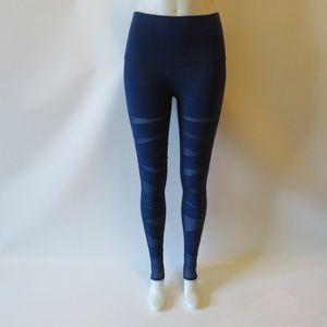 LULULEMON BLUE ACTIVE LEGGINGS W/MESH 6*